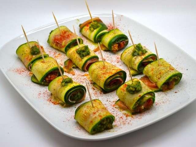 Roulade of zucchini